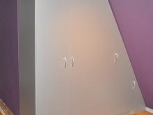 Placard dans une chambre en mélaminé Titan et Graphite