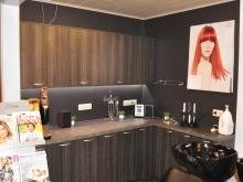 Meuble de salon de coiffure en mélaminé Chêne de Highland Anthracite